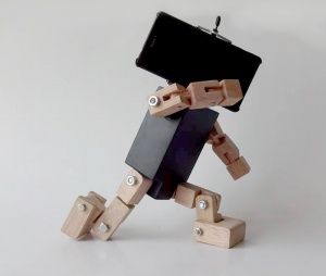 Smartphone holder Robot FLAT BLACK